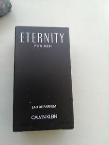 Calvin Klein Eternity Eau de Parfum for Men - 10 ml. Miniature bottle.