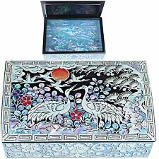 Mini Jewelry Box Mother of Pearl Jewelry Holder Biz Card Box HJL701
