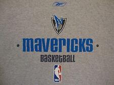 NBA Dallas Mavericks National Basketball Association Fan Gray Reebok T Shirt XL