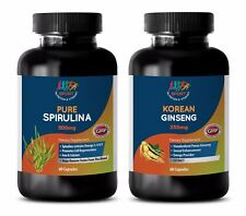 anti-aging essential oil - SPIRULINA – KOREAN GINSENG COMBO 2B - red ginseng cap