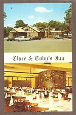 VINTAGE POSTCARD UNUSED CLARE & COBY'S INN MADISON TOWNSHIP NEW JERSEY