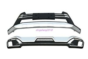 Front+Rear Bumper Board Guard Protector Fit for Toyota Highlander 2018-2020