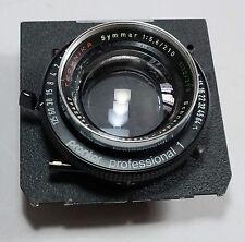 Linhof Technika Schneider Symmar 210/5.6 Lens Prontor 1 Shutter 4x5 5x7 Camera