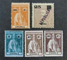 nystamps Portugal Angola Stamp # 117//133 Mint OG H / NG $33