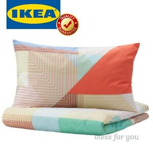 IKEA PIMPERNOT Duvet Cover and Pillowcase(s) Multicolor Twin Queen King
