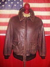 Vintage  AVIREX  USAF Type A-2  Flight Bomber Lightweight Leather Jacket.Size 40