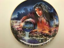 The Waters Of Life By Penfound Indian Porcelain Plate Rare Vintage Painting