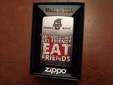 ZOMBIE FRIENDS DON'T LET FRIENDS EAT FRIENDS BLOODY ZIPPO LIGHTER MINT