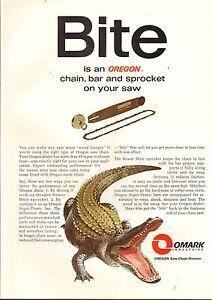 1969 VINTAGE MAGAZINE AD #01027 - OMARK INDUSTRIES CHAIN SAW SPROCKET -ALLIGATOR