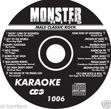 Karaoke Monster Hits Cd+G Male Classic Rock #1006