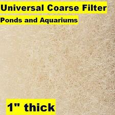 "Universal 28"" x 10 ft Coarse Filter Media-1"" Thk-Bulk Mat-fish pond/aquaculture"