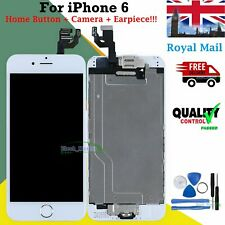 Assembly Display For iPhone 6 LCD Touch Screen Digitizer Home Button White Frame