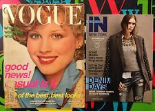 Vogue magazine August Supermodel Patti Hansen ! Mademoiselle Ingenue Lisa Taylor