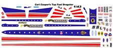 CARL CASPER's Young American Top Fuel Dragster 1/43rd Scale Slot Car Decals NHRA