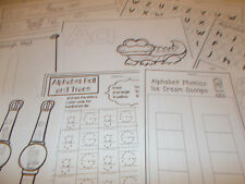 306 Printed Letters and Sounds Worksheets for Preschool-Kindergarten.  Phonics.