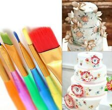 6Pcs assorted sizes Cake/bun/fondant icing decorating brushes