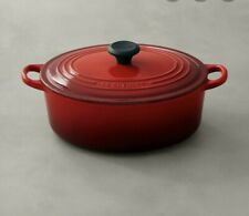 Signature Enameled Cast Iron Oval French Oven , 5 qt., Cherry, New