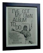 RON WOOD+ROLLING STONES+Album+ORIGINAL 1974 POSTER AD+FRAMED+EXPRESS GLOBAL SHIP