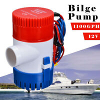 1100GPH Marine Bilge Pump Submersible Water Pump 12V Electric Yacht Boat,