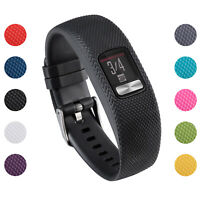 StrapsCo Silicone Rubber Watch Band Strap for Garmin Vivofit 4