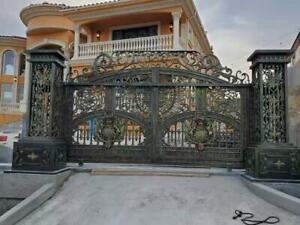 MONUMENTAL PAIR OF ESTATE ALUMINUM INCREDIBLE DRIVEWAY GATES - ADG2