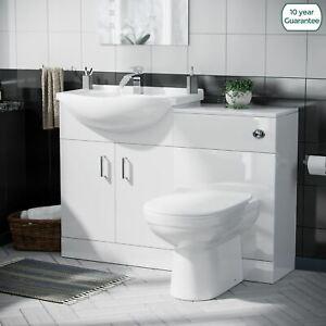 Basin Sink Vanity Unit Toilet Pan WC Set and Cistern Bathroom Suite| Debra