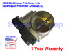 New Fuel Injection Throttle Body CHAMBER ASSY for 03 04 Nissan Pathfinder