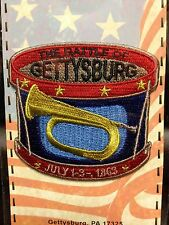 "THE BATTLE OF GETTYSBURG DRUM WITH BUGLE JULY 1-3 1863 PATCH 2 1/2"" NEW"