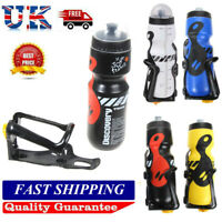 650ML Bicycle Cycling Sports Jug Water Bottle Cup Holder For Mountain Bike UK