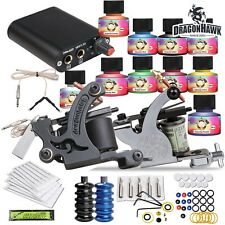 Complete Beginner Tattoo kit Machine Guns Power Supply Needles Inks Grip HW-26GD
