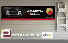 Abarth 124 Spider Banner for Workshop, Garage, Office, Showroom, Fiat Abarth