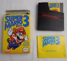 Super Mario Bros. 3 Nintendo NES Game with Box Manual dust sleeve CLEANED TESTED
