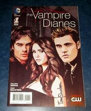 the VAMPIRE DIARIES 1 signed 1st print DC COMICS 2014 TONY SHASTEEN artist CW TV