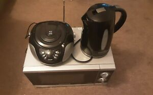 Morphy Richards P80H20P 800W Microwave Oven& Bush MP3 Boombox & Cookworks Kettle