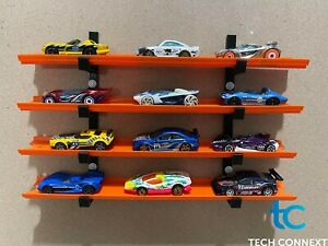 Wall Shelf Display Brackets for Hot Wheels, Matchbox, and other 1/64 Scale Cars