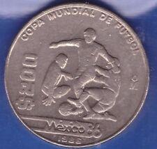 1985 Mexico $200 Peso, 1986 World Cup Mexican Soccer commemorative,