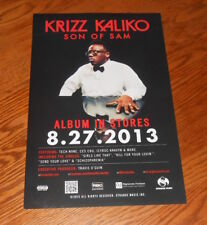 Krizz Kaliko Son of Sam Poster 2013 Promo 11x17 Rap Tech N9ne RARE