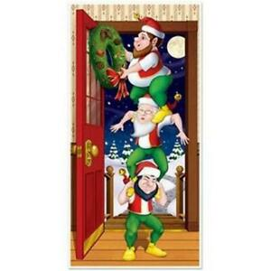 Christmas Elves All-Weather Door Cover Christmas Winter Decoration