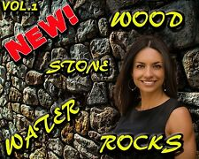NEW Digital Photo Backgrounds Walls Stone Water Rocks Studio Templates Green Scr