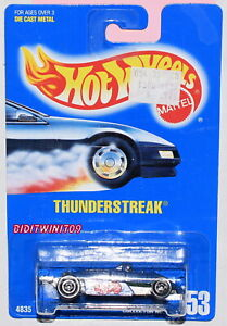 HOT WHEELS 1991 BLUE CARD THUNDERSTREAK #153 BLUE 27 W+
