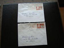 FRANCE - 2 enveloppes 1971/1972 (victor grignard) (cy84) french