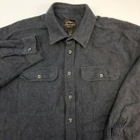 Mountain Ridge Button Up Shirt Mens 2XLB Gray Flannel Long Sleeve Casual