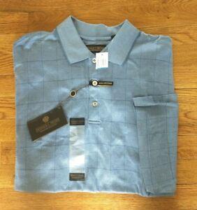 NWD Men's DONALD TRUMP SIGNATURE COLLECTON Short Sleeve Polo Shirt Sz XL Check
