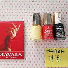 M3 LOTTO STOCK SET SMALTI MAVALA 3 PARIS 173 LEMON CREAM 211 BLACK DIAMOND
