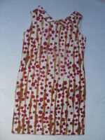 VINTAGE 1960s ABSTRACT FLORAL DRESS -  MOD / SCOOTER / DOLLY BIRD  RETRO