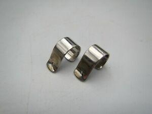 Estate 14k White Gold Pierced Earring Jackets