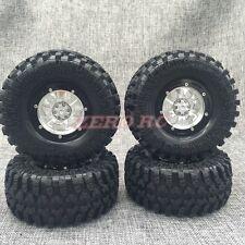 """RC 1/10 TRUCK RIMS 2.2"""" ROCK CRAWLER BEADLOCK ALUMINUM Wheels + 130mm Tires (4)"""