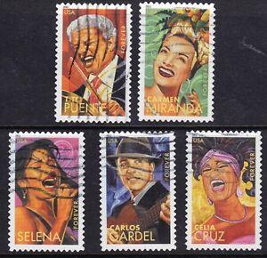 Scott #4497-4501 Used Set of 5, Latin Music Legends