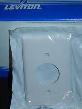 5 Leviton White Circle Single Hole Nylon Electrical Wall Plate Cover 80704-W