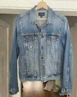 Lucky Brand Jean Denim Jacket Size L Women Blue